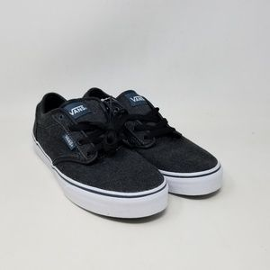 Vans Atwood Textile Black Sneakers Youth's Size 5